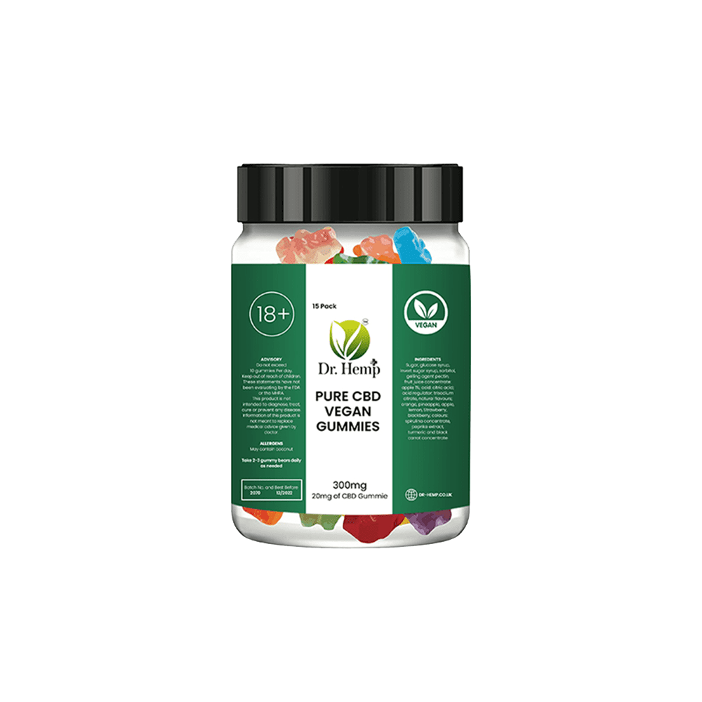 Dr Hemp – Special Vegan CBD Gummies 20mg Transparent Background